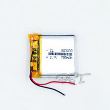 Rechargeable 3.7V 700 mAh  LiPo Polymer Battery 803030 for GPS Bluetooth MP3
