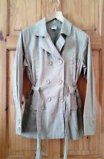 La Redoute Stone Short Waist Belted Light Casual Summer Jacket size 12 Day Coat