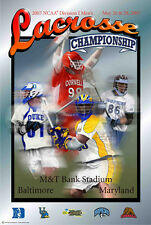 NCAA LACROSSE CHAMPIONSHIPS 2007 Official Event Poster - Johns Hopkins, Duke +++