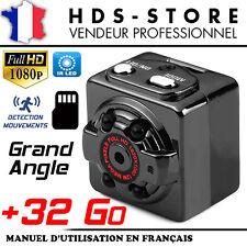 CAMÉRA CUBE SQ8 FULL HD 1080P 720P + CARTE 32 GO VISION NOCTURNE DÉTECTION VIDÉO