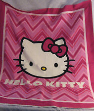 "HELLO KITTY Fabric Panel Chevron Zig Zag 36"" x 44"" Free Shipping"