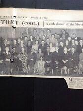 G2-1 ephemera 1953 Picture Oldbury Gas Works Social Club Dinner Langley