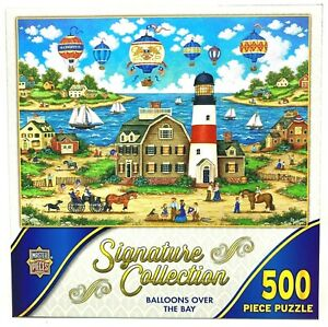 NEW Master Pieces Puzzle: BALLOONS OVER THE BAY (500 pieces)