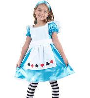 GIRLS ALICE IN WONDERLAND FANCY DRESS COSTUME WORLD BOOK DAY WEEK OUTFIT