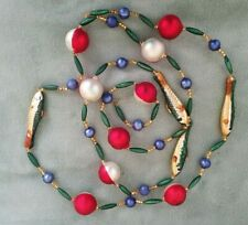 """Vintage Glass Christmas Garland - Minnows And Floats - 70"""" Long"""