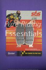2 X SBS 627 RS TRIUMPH 900 THUNDERBIRD SPORT 2003 - UPWARDS FRONT BRAKE PADS