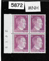 #5872   MNH Hitler stamp block / 1941 PF06 / Original Third Reich Germany Block