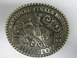 National Finals Rodeo Hesston 1984 NFR Adult Cowboy Buckle, Vintage