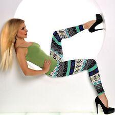 Damen Winter Leggings Treggings Pantyhose Norweger Motiv  unisize S-L Neu