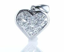 Diamond Heart Shape Pendant 18K White Gold 1.01 Carat 2.50Gr Retail Price $5,700