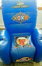 1998 Miller Lite Nfl Super Bowl 32 Inflatable Cheer Chair (Packers vs. Broncos)