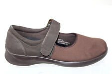 184dce87debb Aetrex Essence Orthotic Comfort Slip On Mary Janes Brown Womens Size 9.5 W