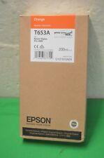 Epson T653A Orange Ink 200ml  Genuine Pro  4900 Date Dec 2017