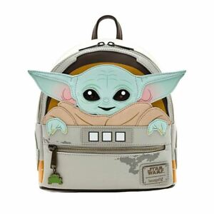 Loungefly x Star Wars The Mandalorian Child Cosplay Mini Backpack