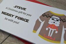 Personalised Christmas Money Wallet Pocket Gift Card Star Wars Storm Trooper