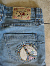 YMI From City of Angels {Women's Size 0} Draw String Cuff Denim Stretch Shorts
