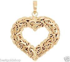 Technibond Byzantine Heart Pendant Enhancer 14K Yellow Gold Clad Silver HSN