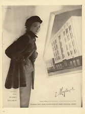 1951 vintage fashion Ad, Alaska Sealskin Fur Coats at I.Magnin & Co.  -021014