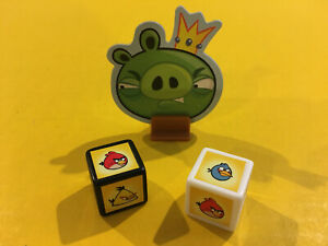 2 Dice & King Pig Original Parts for Angry Bird Card Game