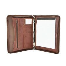 Dalix Professional Excel Business Slim Portfolio Briefcase Organizer In Brown