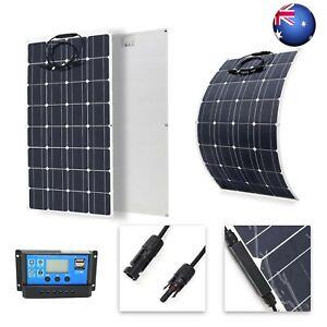 AU 20W-150W 18V Flexible Solar Panel Solar Cells Cell Module DC for Car EV CamP