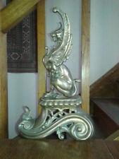 Chenet sphinge en bronze fin XIX°
