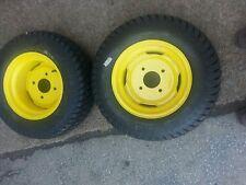 TWO 23/8.50-12 Carlisle Lawnmower/Golf Cart Turf 4 ply Tires w/John Deere Wheels