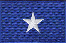 BONNIE BLUE STAR FLAG  - CONFEDERATE - CIVIL WAR - Iron On Embroidered Patch