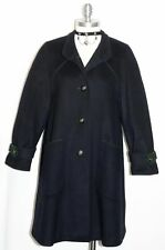 BAUR BOILED WOOL Long OVER COAT Winter Austria WARM Swing Dress BLACK 34 10 M
