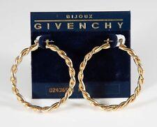 Sleek Vintage Givenchy Rope Hoop Earrings - Pierced