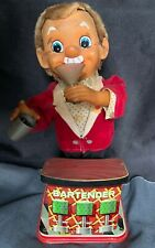 1960'S VINTAGE BATTERY OPERATED MECHANICAL BARTENDER! UNTESTED! ~