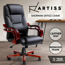 Artiss Executive Wooden Office Chair Wood Computer Chairs Work Seat Sherman