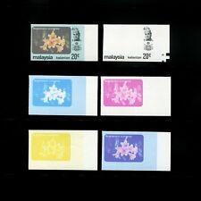 Malaya/Malaysia Kelantan 1979 Flowers 20c progressive proof, complete 6 stages.
