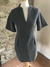 Next Monochrome Spot Jacquard Dress Size 12 RRP35 BNWT