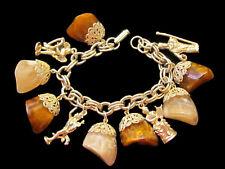 Amazing Vintage Charm Bracelet Plastic (Lucite?) Stones & Statures Angel +