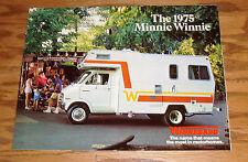 Original 1975 Winnebago Minnie Winnie Foldout Sales Brochure 75 RD RG RB