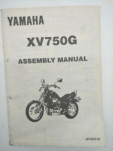 Yamaha Motorbike XV750G Factory Assembly Manual. 1st ed., July 1994