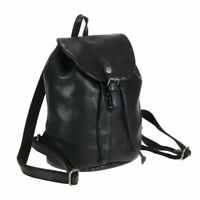 Greenburry Rucksack Damen Leder in harmonischen Erdtönen Vintage Washed schwarz