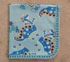 CRADLE/RECEIVING BLANKET/HANDCRAFTED - LITTLE DINOS RULE