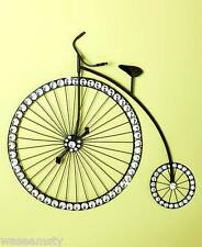 3D Acrylic Crystal Gem Jewel Accent Old Fashioned Bicycle Metal Wall Decor Art