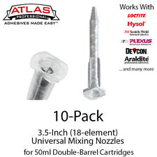Atlas Pro Small 3.5-Inch Static Mixing Nozzles/Tips for 50ml Cartridges-10-Pack