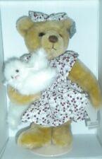 Annette Funicello Collectible Bear Co Precious & Baily Cat Coa Original Box