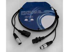 Kombi Kabel IEC/XLR 1,3m zum Verbinden von Flat Par´s, und LED Effekten