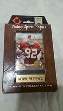 Vintage Sports Plaques Michael Westbrook