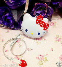 Hello Kitty Bow Head Shape Automatic Retractable Tape Measure Ruler KK88