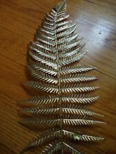 Gold Woodwordia Fern Stem 20 Inch Length x 5 Inches Wide Artificial