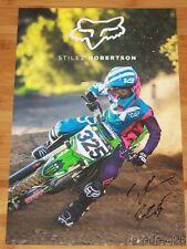 2017 Stilez Robertson signed Fox Kawasaki AMA Supercross Motocross Poster