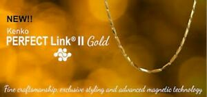 Nikken Kenko Perfect Link™ II Gold Stainless Steel Magnetic Necklace New