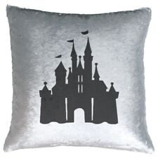 Disney Castle - Sequin Magic Reveal Cushion Cover - Disney World Mickey Minnie