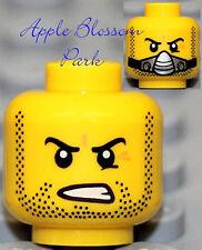NEW Lego Male MINIFIG HEAD Galaxy Squad w/Silver Breathing Mask & Black Beard